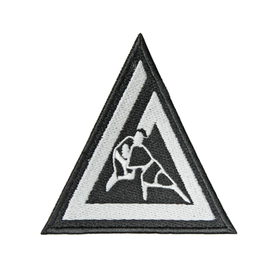 """(3x3"""") Gracie Triangle Embroidered Patch"""