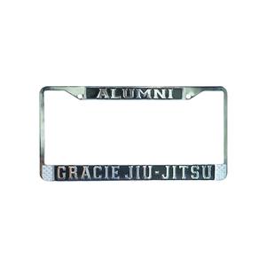Gracie University Chrome License Plate