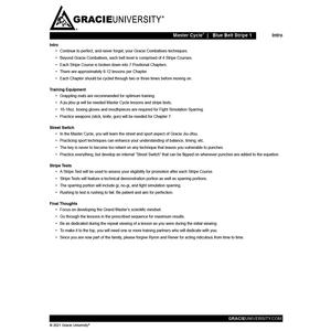 Blue Belt Stripe 1 Detailed Lesson Printouts