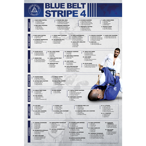 "Blue Belt Stripe 4 Poster (24x36"")"