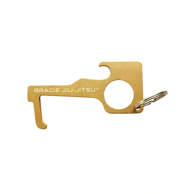 Gracie Jiu-Jitsu No Touch Brass Keychain