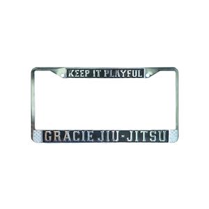 """""""Keep it Playful"""" Gracie Jiu-Jitsu Chrome License Plate"""