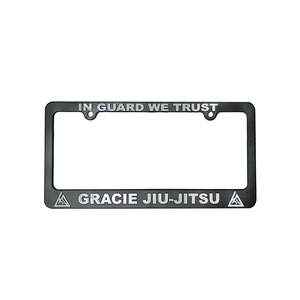 """""""In Guard We Trust"""" License Plate Frame"""