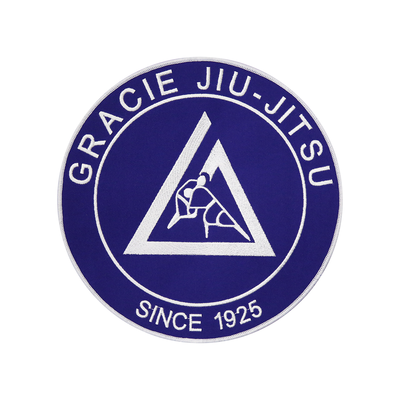 """(9x9"""") Blue Large Embroidered Gi Patch"""