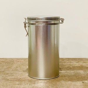 """OUT OF STOCK. Loose Leaf Storage with Custom Five Mountains Label - Silver (8""""Hx4""""W)"""