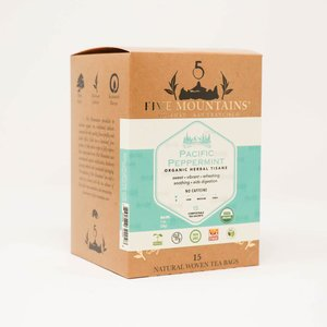 Organic Pacific Peppermint Tisane: 15 Tea Sachets