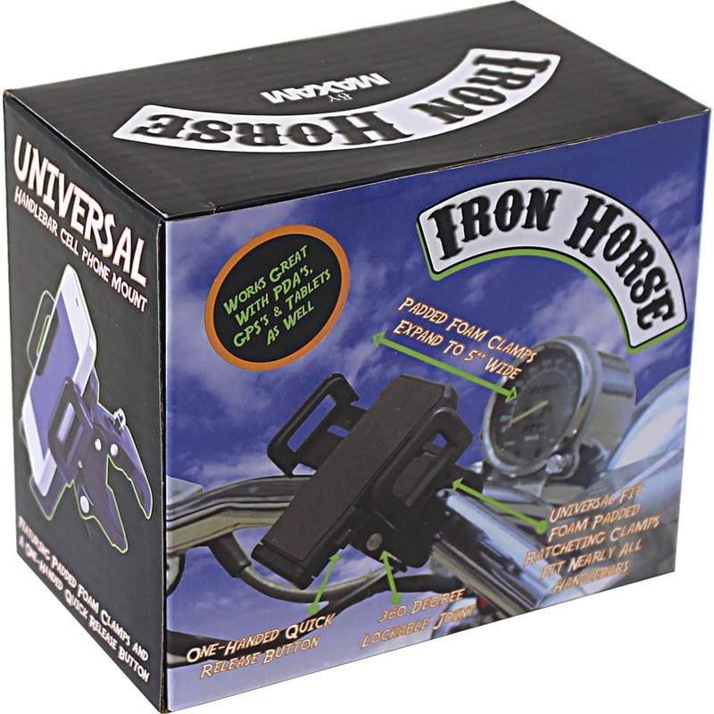 Iron Horse by Maxam Adjustable Motorcycle/Bicycle Phone Mount_2