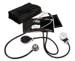 Aneroid Sphygmomanometer / Clinical I Stethoscope Kit, Adult, Black, Print