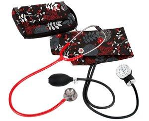 Aneroid Sphygmomanometer / Clinical I Stethoscope Kit, Adult, Night Garden, Print