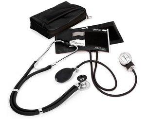 Aneroid Sphygmomanometer / Sprague-Rappaport Stethoscope Kit, Adult, Black