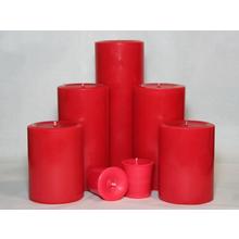 4 inch Cranberry Spice Pillar
