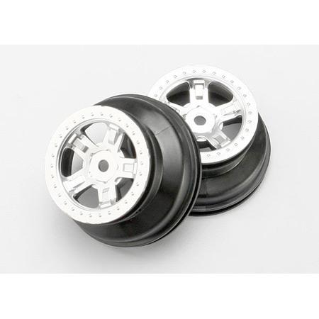 Satin Chrome Wheels (2): 1/16 SLH