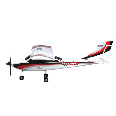 The size and bright trim scheme of the Apprentice will aid the beginner pilot in aircraft orientation while learning to fly.