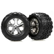 Chrome Wheel (Front) w/TalonTire(2):Stampede