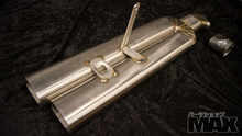 Twin Oval Tip Axle Back exhaust - Natural finish