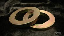 Pair of S14 Front Wheel Hub Bearing Washers, GOLD