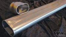 """Oval Pipe 304SS 1.5mm wall 2""""x3.8"""" 78CM length"""