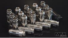 CLEARCOAT STAINLESS Spline Drive Racing Lug Nuts 12x1.50 thread (Toyota, Mazda, Hyundai)