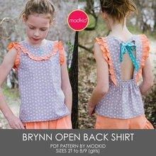 Brynn Open-Back Shirt Girls 2T-8/9 PDF Pattern