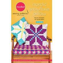 Nordic Snowflake Pillow Sewing Pattern