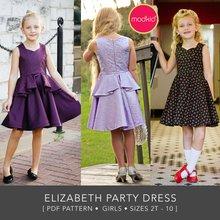 Elizabeth Girls Sizes 2T to 10 PDF Pattern