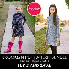 Brooklyn BUNDLE Girls/Tweens/Teens PDF Pattern