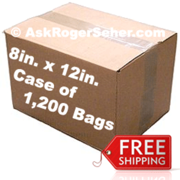 8x12 case pack of 1200 bags