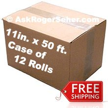 Case Pack of (12) Rolls of 11 in. x50 ft. Vacuum Sealer Bagging  ** FREE Shipping ** ***** In Stock, Ready to Ship *****