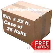 Case Pack of ( 36 ) Rolls of 8 in. x22 ft. Vacuum Sealer Bagging ** FREE Shipping ** ***** In Stock and Ready to Ship!*****