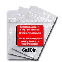 Weston Zipper Seal Vacuum Bags - Pint 6 x 10 (100 ct.) 30-0206