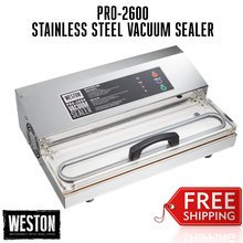 PRO-2600 Vacuum Sealer Stainless Steel Finish
