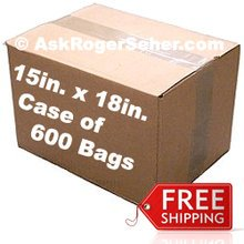 Case Pack of 500 15x18 in. Vacuum Sealer Bags ** FREE Shipping ** **** In Stock ready to ship  ****