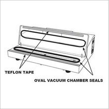 """(1) Pro-2100 & Pro-2300 Oval Vacuum Chamber Seal Gasket. Part Number 24 called """"Oval Vacuum Chamber Seal"""" in manual"""