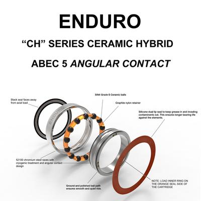 7802 ABEC 5 CERAMIC HYB Angular Contact