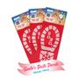 Hoppy Paws Santa Boot Decal