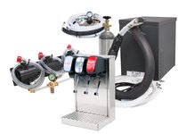 3-Flavor Home Soda Fountain Tower System with Compact Remote Chiller (R2300)