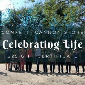 Confetti Cannon Store Gift Certificate for $25
