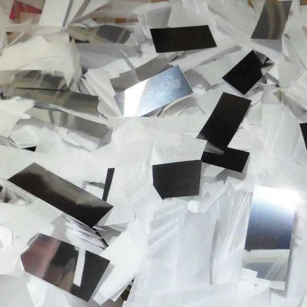 Silver and white confetti mix