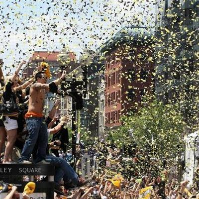 confetti filling the air creating excitement