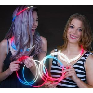 Red White and Blue Glow Necklace