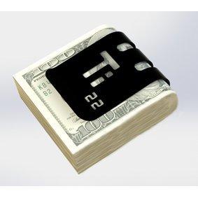 The T-100 Titanium Money Clip - Black Diamond Finish