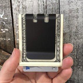 Upgraded COMMANDER™ 2.0 Money Clip - Massive 60 folded bill capacity - Black Diamond Finish PRE-ORDER  SHIPS APPROX OCT 10, 2021