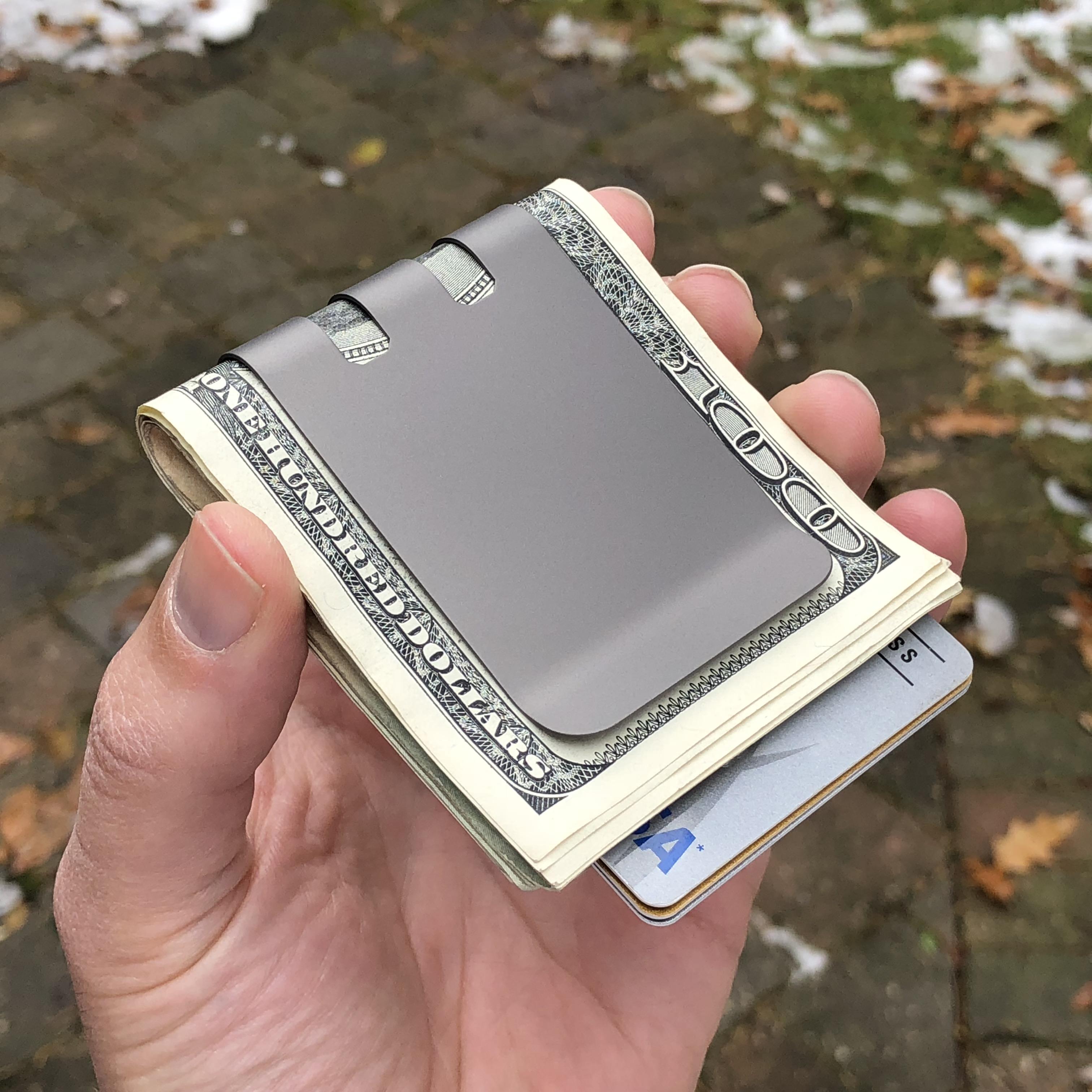 Commander 2.0 Titanium Money Clip by Superior Titanium Products, Inc.
