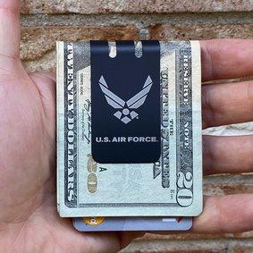 Black Diamond mini-VIPER Money Clip - Precision Engraved USAF Insignia