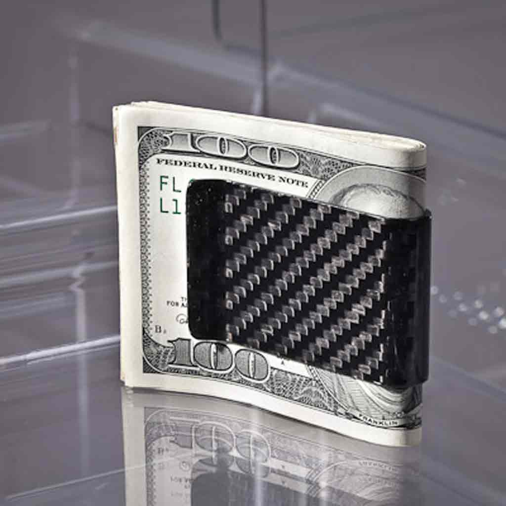 Koolstoff Carbon Fiber Money Clip (Front)