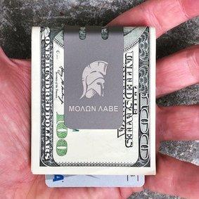 The mini-VIPER™ titanium money clip - SPARTAN on NASA Optical Gray Finish