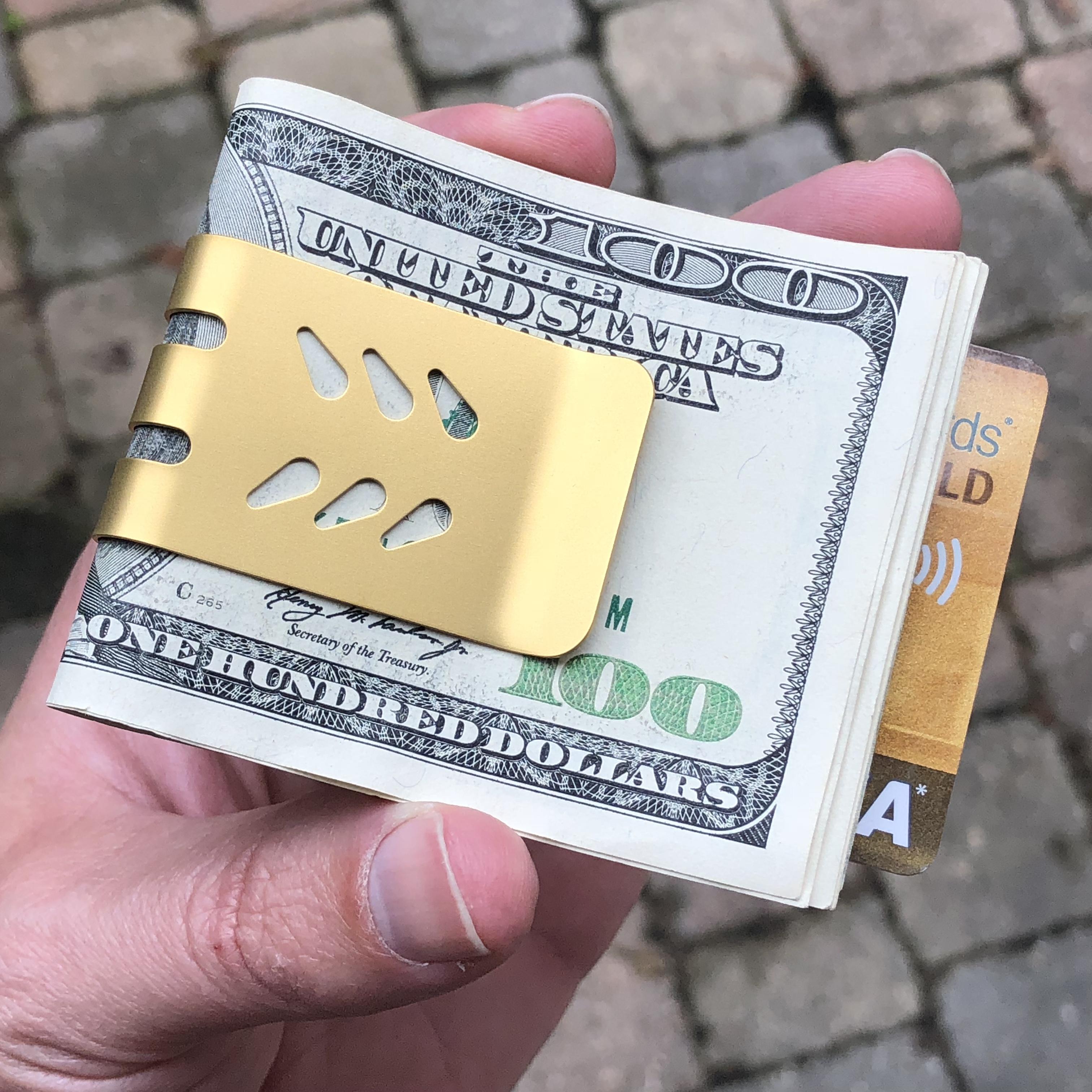 mini-VIPER titanium money clip - Titanium Nitride Finish
