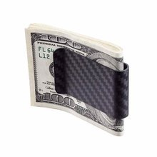 Koolstof Carbon Fiber Money Clip in Matte finish with cash