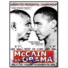 "Mr. Brainwash ""Obama Vs. McCain"" Signed Screen Print"
