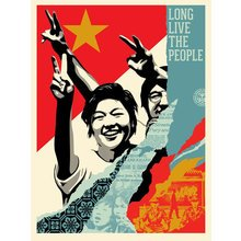 """Obey Giant """"Long Live The People"""" Signed Screen Print"""